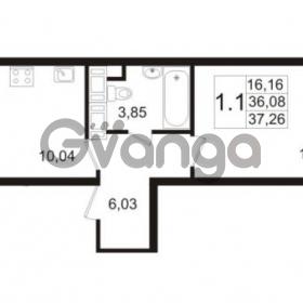 Продается квартира 1-ком 36.08 м² улица Адмирала Черокова 18к 3, метро Проспект Ветеранов