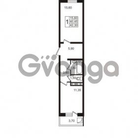 Продается квартира 1-ком 42.3 м² Привокзальная улица 1, метро Купчино