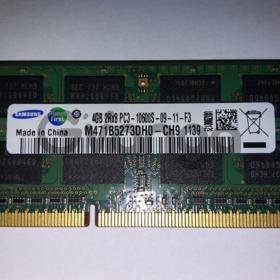Память Samsung SODIMM DDR3-1333 4096MB PC-10600 (M471B5273DH0-CH9)