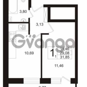Продается квартира 1-ком 29.08 м² бульвар Менделеева 5, метро Девяткино