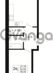 Продается квартира 1-ком 42.42 м² бульвар Менделеева 5, метро Девяткино