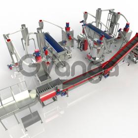 Комплекс под ключ по переработке загрязненных ПЭТ бутылок. Производитель.
