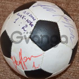 Футбольный мяч с автографами Джанлуиджи Буффона