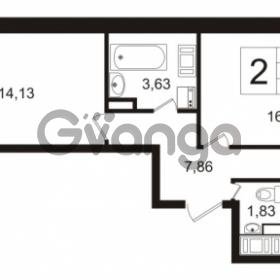 Продается квартира 2-ком 51.93 м² улица Шувалова 1, метро Девяткино