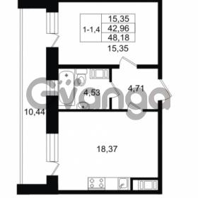Продается квартира 1-ком 42.96 м² улица Костюшко 19, метро Московская