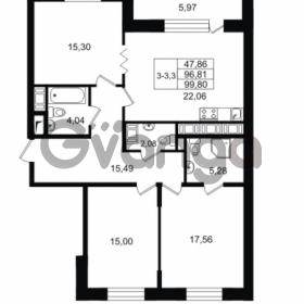 Продается квартира 3-ком 96.81 м² улица Костюшко 19, метро Московская