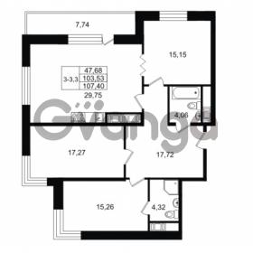 Продается квартира 3-ком 103.53 м² улица Костюшко 19, метро Московская