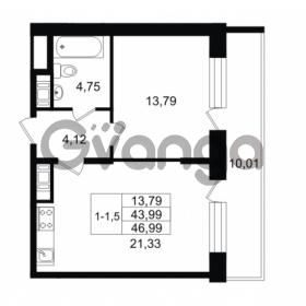 Продается квартира 1-ком 43.99 м² улица Костюшко 19, метро Московская