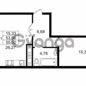 Продается квартира 1-ком 53.06 м² улица Костюшко 19, метро Московская