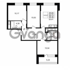 Продается квартира 3-ком 92.74 м² улица Костюшко 19, метро Московская