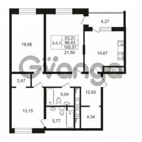 Продается квартира 3-ком 98.43 м² улица Костюшко 19, метро Московская