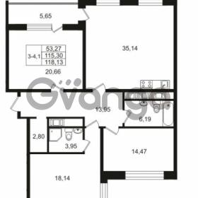Продается квартира 3-ком 115.3 м² улица Костюшко 19, метро Московская