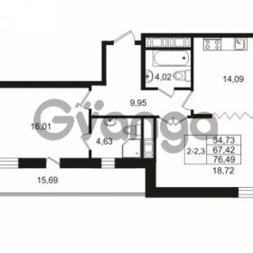 Продается квартира 2-ком 67.42 м² улица Костюшко 19, метро Московская