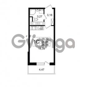 Продается квартира 1-ком 24.84 м² Английская улица 1, метро Улица Дыбенко