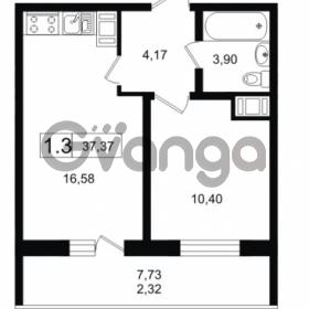 Продается квартира 1-ком 37.37 м² Новая улица 1, метро Девяткино