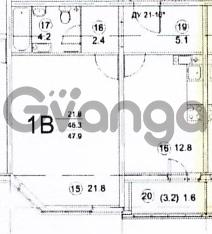 Продается квартира 1-ком 47.9 м² Глухарская 33к 1, метро Комендантский проспект