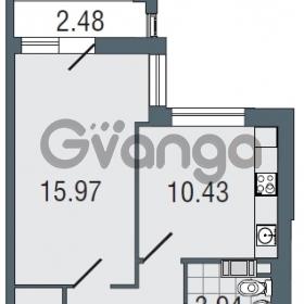 Продается квартира 1-ком 38.2 м² Заозерная улица 3А, метро Фрунзенская