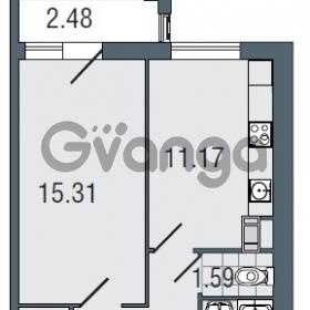 Продается квартира 1-ком 39.6 м² Заозерная улица 3А, метро Фрунзенская
