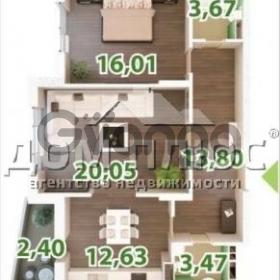 Продается квартира 2-ком 73 м² Сикорского (Танковая)