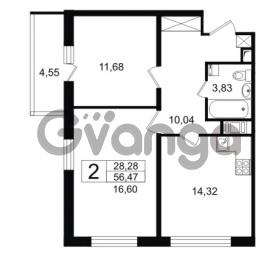 Продается квартира 2-ком 56.47 м² проспект Космонавтов 102, метро Звездная