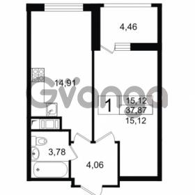 Продается квартира 1-ком 37.87 м² проспект Космонавтов 102, метро Звездная