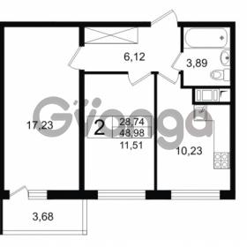 Продается квартира 2-ком 48.98 м² проспект Космонавтов 102, метро Звездная