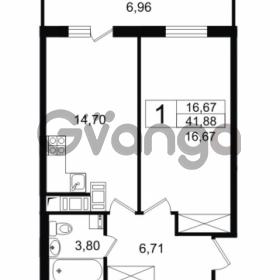 Продается квартира 1-ком 41.88 м² проспект Космонавтов 102, метро Звездная