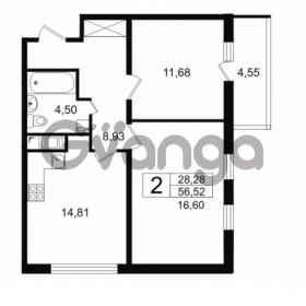Продается квартира 2-ком 56.52 м² проспект Космонавтов 102, метро Звездная
