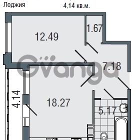 Продается квартира 1-ком 44.8 м² Заозерная улица 3А, метро Фрунзенская