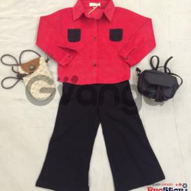 Модный наряд для девочки: Рубашка, Брюки, Сумочка