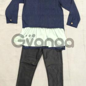 Модный наряд для девочки: Рубашка, Легинсы, Палантин