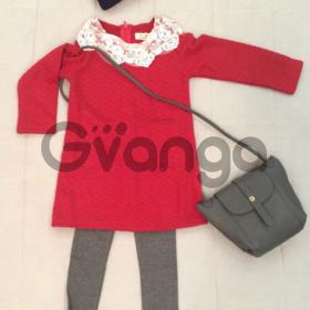 Модный наряд для девочки: Платье, Легинсы, Сумочка