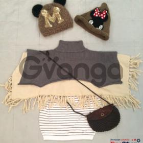 Модный наряд для девочки: Пончо, Платье-Туника, Шапочки