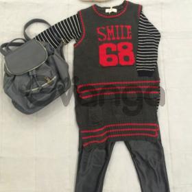 Модный наряд для девочки: Туника, Жилет, Легинсы