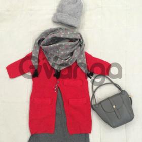Модный наряд для девочки: Кардиган, Платье, Шарф-Косынка