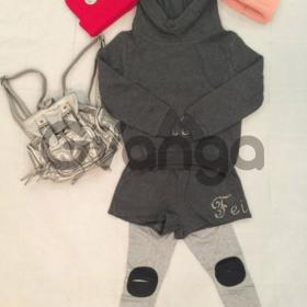 Модный наряд для девочки: Костюм с шортами, Легинсы, Рюкзак