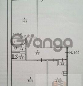 Продается квартира 2-ком 42 м² Дзержинского, переулок, 1