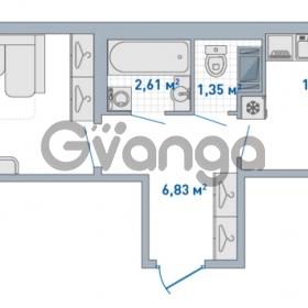 Продается квартира 1-ком 42.93 м² Европейский проспект 14, метро Улица Дыбенко