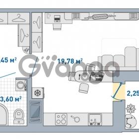 Продается квартира 1-ком 31.08 м² Европейский проспект 14, метро Улица Дыбенко