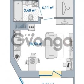 Продается квартира 1-ком 30.67 м² Европейский проспект 14, метро Улица Дыбенко