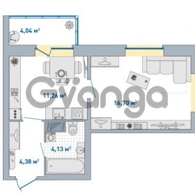 Продается квартира 1-ком 40.51 м² Европейский проспект 14, метро Улица Дыбенко