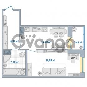 Продается квартира 1-ком 51.12 м² Европейский проспект 14, метро Улица Дыбенко