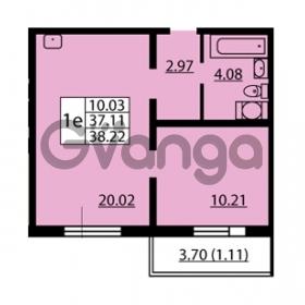Продается квартира 1-ком 37.11 м² улица Дыбенко 6, метро Улица Дыбенко