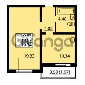 Продается квартира 1-ком 38.67 м² улица Дыбенко 6, метро Улица Дыбенко
