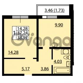 Продается квартира 1-ком 37.24 м² улица Дыбенко 6, метро Улица Дыбенко