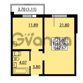 Продается квартира 1-ком 41.56 м² улица Дыбенко 6, метро Улица Дыбенко