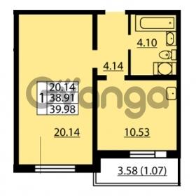 Продается квартира 1-ком 38.91 м² улица Дыбенко 6, метро Улица Дыбенко
