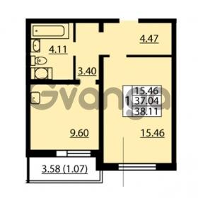 Продается квартира 1-ком 37.04 м² улица Дыбенко 6, метро Улица Дыбенко
