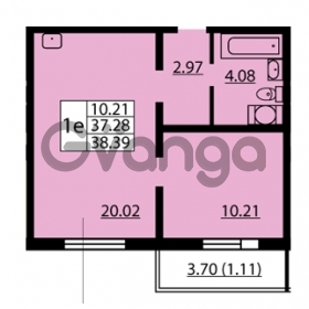 Продается квартира 1-ком 37.28 м² улица Дыбенко 6, метро Улица Дыбенко
