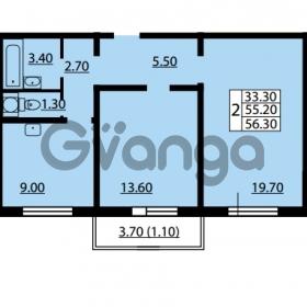 Продается квартира 2-ком 55.2 м² улица Дыбенко 6, метро Улица Дыбенко
